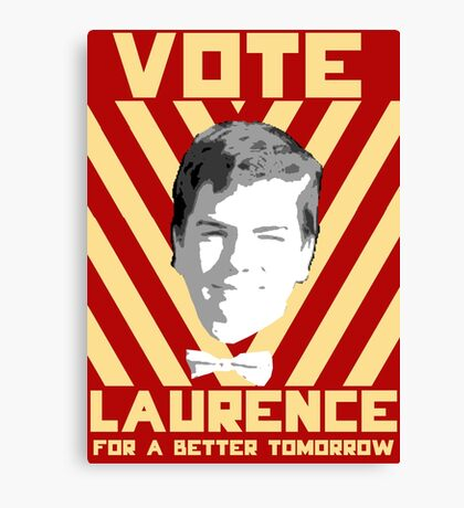 Vote Laurence Canvas Print
