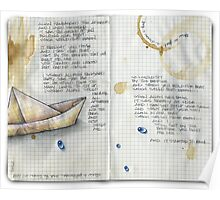 paper boat... Poster