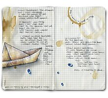 paper boat... Photographic Print