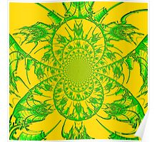 Green & Yellow Spiral Poster