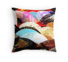 Colourful fans Throw Pillow