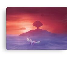 Flying to Pure land (30 left!) Canvas Print