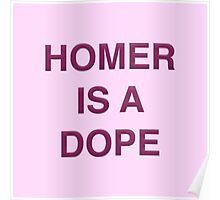 Homer is a Dope Poster