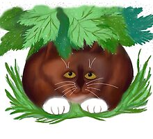 Cat Shelters under Maple Leaves  by NineLivesStudio