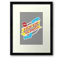 Back to the Future Hover Board Logo Framed Print