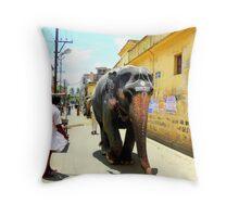 Temple elephant Throw Pillow