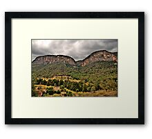 Times Past - Glen Davis Shale Works Ruins - The HDR Experience Framed Print