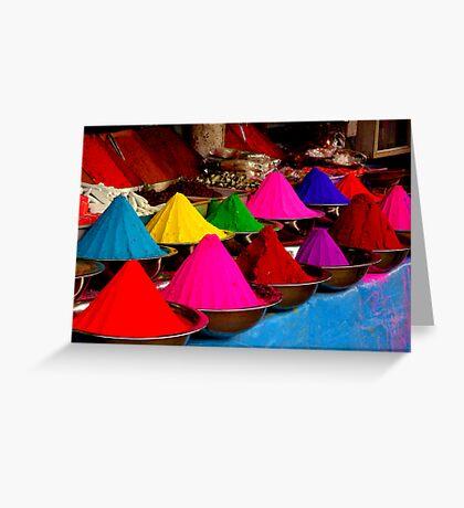 Colourful tikka powder Greeting Card