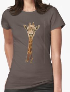 Giraffe Portrait Womens Fitted T-Shirt