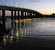 Captain Cook Bridge, Botany Bay, Sydney NSW Australia by Richard  Willett