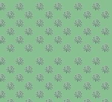 Cherry Blossom Tree Pattern by pyktispix