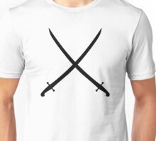 Sword saber crossed Unisex T-Shirt