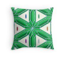Rupee Stars - Green Rupees Throw Pillow