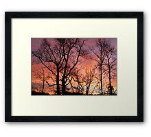 Sunrise Silloughette Framed Print