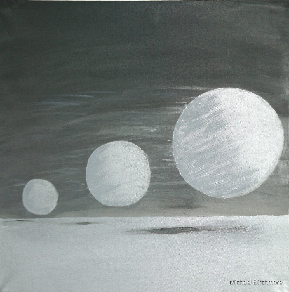 Three mercurial planets by Michael Birchmore