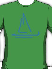 Blue sail boat T-Shirt