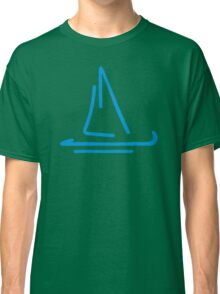 Blue sail boat Classic T-Shirt