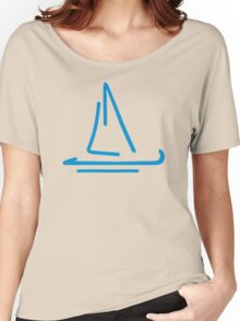 Blue sail boat Women's Relaxed Fit T-Shirt