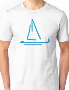 Blue sail boat Unisex T-Shirt