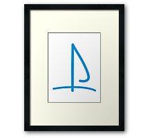 Sail boat logo Framed Print