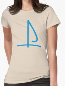 Sail boat logo Womens Fitted T-Shirt