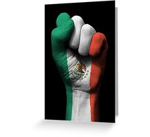 Flag of Mexico on a Raised Clenched Fist  Greeting Card