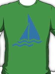 Blue sailing symbol T-Shirt