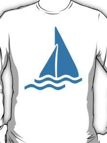 Blue sailing symbol T-Shirt