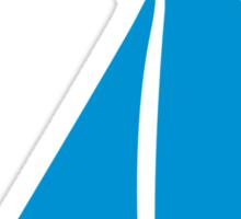 Blue sailing symbol Sticker