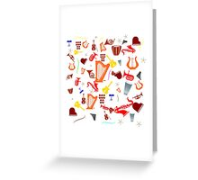Musica Greeting Card