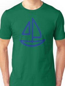 Blue sailing boat Unisex T-Shirt
