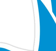Blue sailing icon Sticker