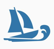 Sailing boat wave Kids Clothes