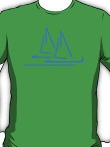 Blue sail ship T-Shirt