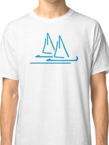 Blue sail ship Classic T-Shirt