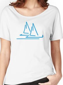 Blue sail ship Women's Relaxed Fit T-Shirt