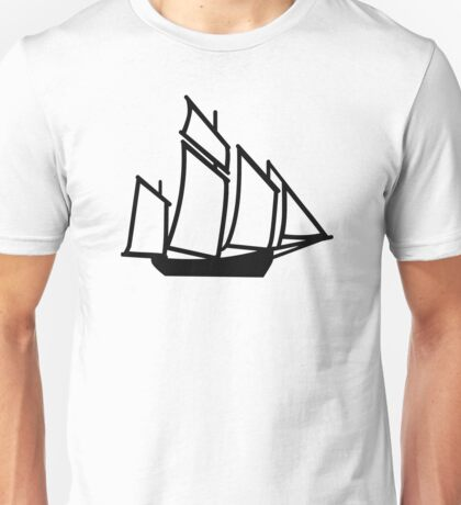 Sailing boat ship Unisex T-Shirt
