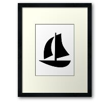 Sail boat icon Framed Print