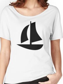 Sail boat icon Women's Relaxed Fit T-Shirt