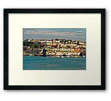The Golden Hour Of Brixham, England Framed Print
