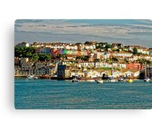 The Golden Hour Of Brixham, England Canvas Print
