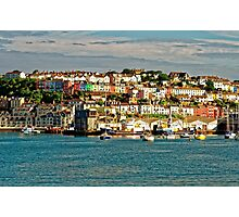 The Golden Hour Of Brixham, England Photographic Print
