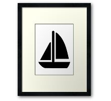 Sail boat symbol Framed Print