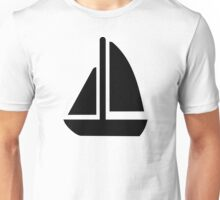 Sail boat symbol Unisex T-Shirt