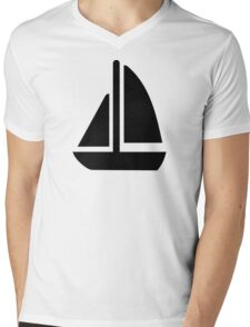 Sail boat symbol Mens V-Neck T-Shirt
