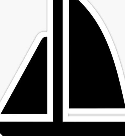 Sail boat symbol Sticker
