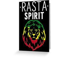RASTA SPIRIT WHITE Greeting Card