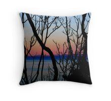 Sunset patterns Throw Pillow