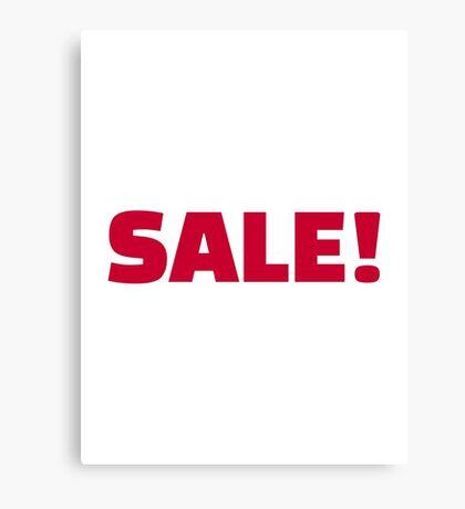 Sale Canvas Print