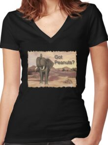Got Peanuts? Women's Fitted V-Neck T-Shirt
